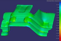 Stress analysis simulated on form station using Dynaform software